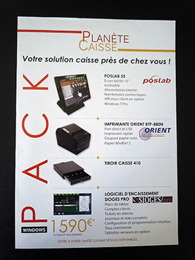 Flyer promotionnel Planète Caisse recto